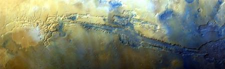 A color MARCI mosaic of Valles Marineris made with my IDL programs.