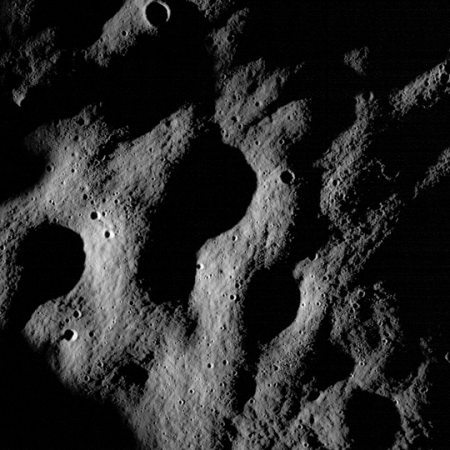 One of the first images of the lunar surface from LROC. The camera has a high enough resolution to see the equipment left at the Apollo landing sites, and those are some of the top priority targets once LRO reaches its primary mission orbit.